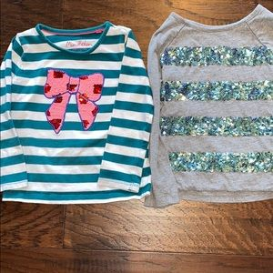 Mini Boden Bundle of Two Toddler Sequin Shirts